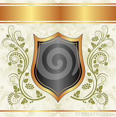 Zwarte romige gouden achtergrond