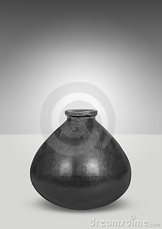 Zwarte vaas