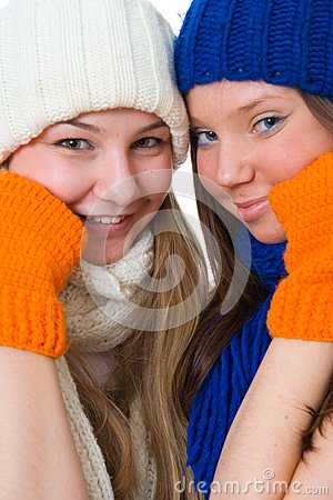 Zwei attraktive Mädchen