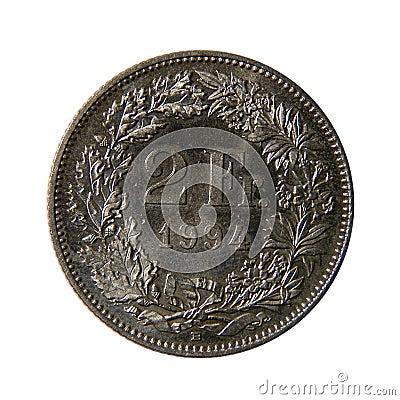Zwei französische Franc