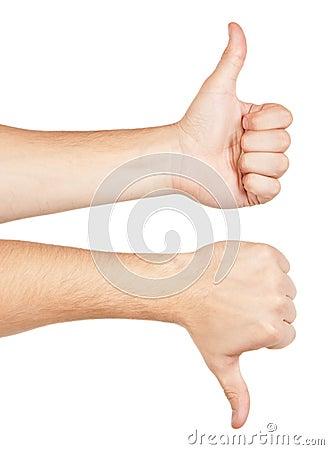 Zwei gestikulierende Hände