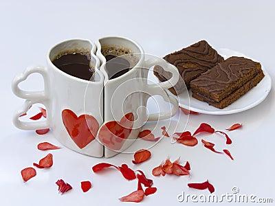 zwei kaffeetassen gegen lizenzfreie stockfotos bild 24628868. Black Bedroom Furniture Sets. Home Design Ideas