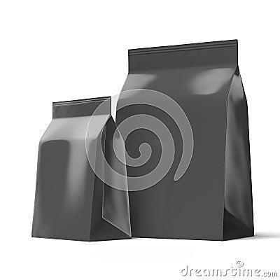 Zwei schwarze Folienpakete