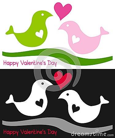 Zwei Vögel in der Liebe