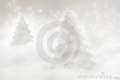 Zwei Weihnachtsbäume