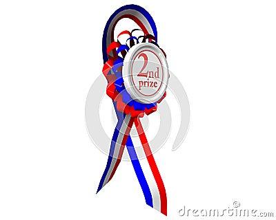 Zweite prize Medaille gedreht
