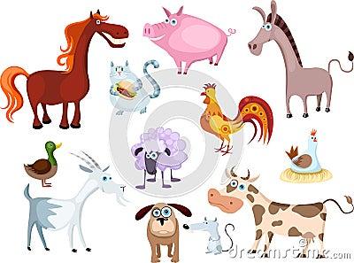 Zwierzęcego gospodarstwa rolnego nowy set