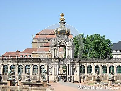 In The Zwinger, Dresden