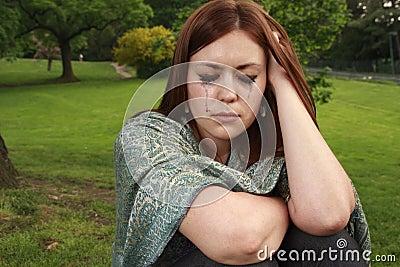 łzy dziewczyn.