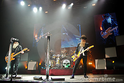 ZZ Top in Concert Editorial Photo