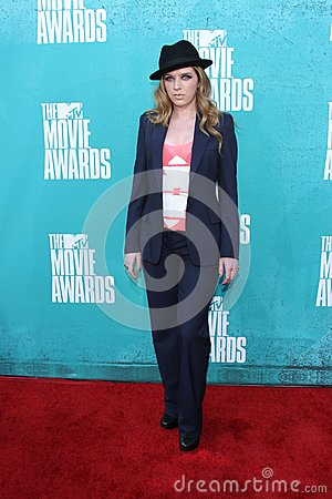 ZZ Ward at the 2012 MTV Movie Awards Arrivals, Gibson Amphitheater, Universal City, CA 06-03-12 Editorial Stock Image