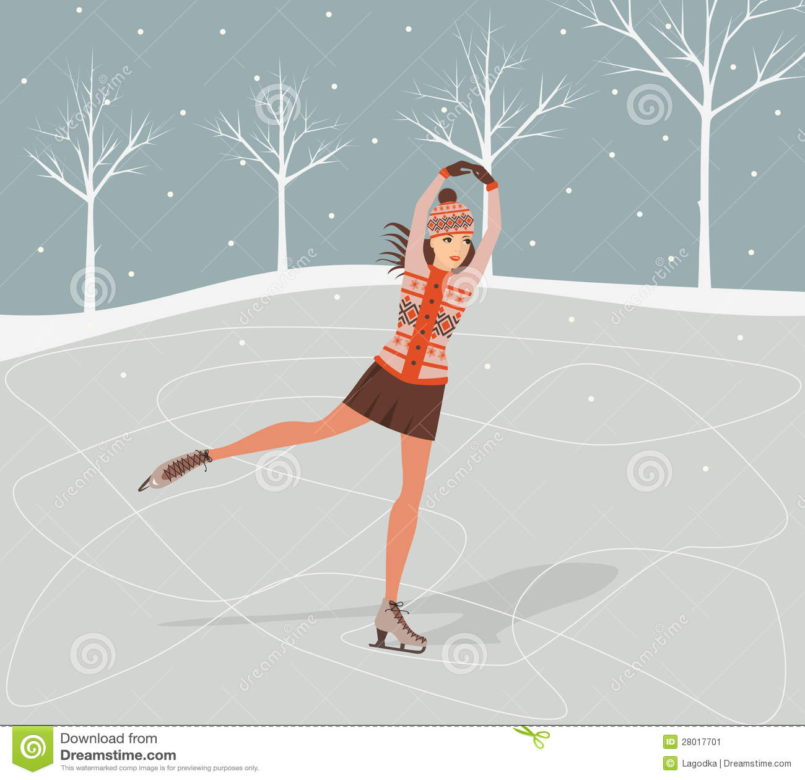 Картинки девушка на коньках