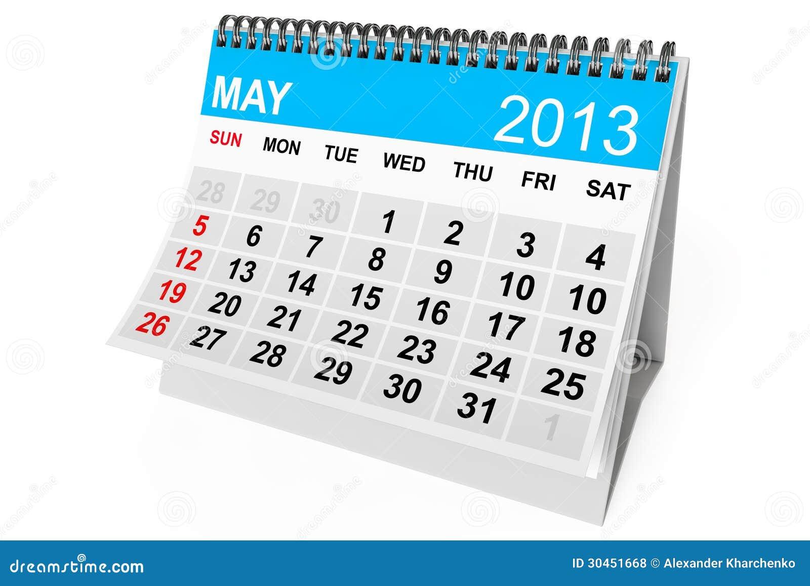 май 2013 год календарь: