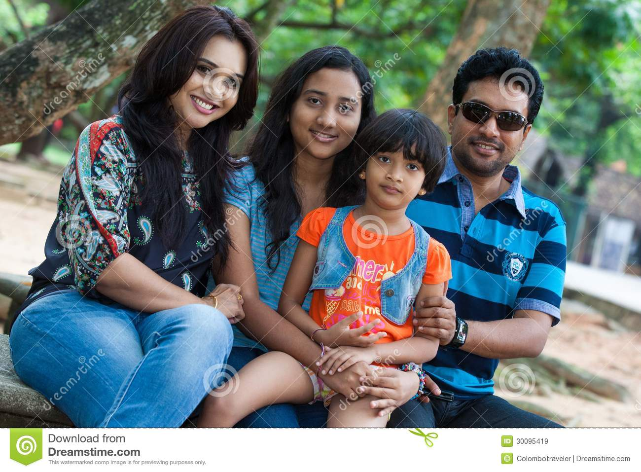 Channa Perera and family