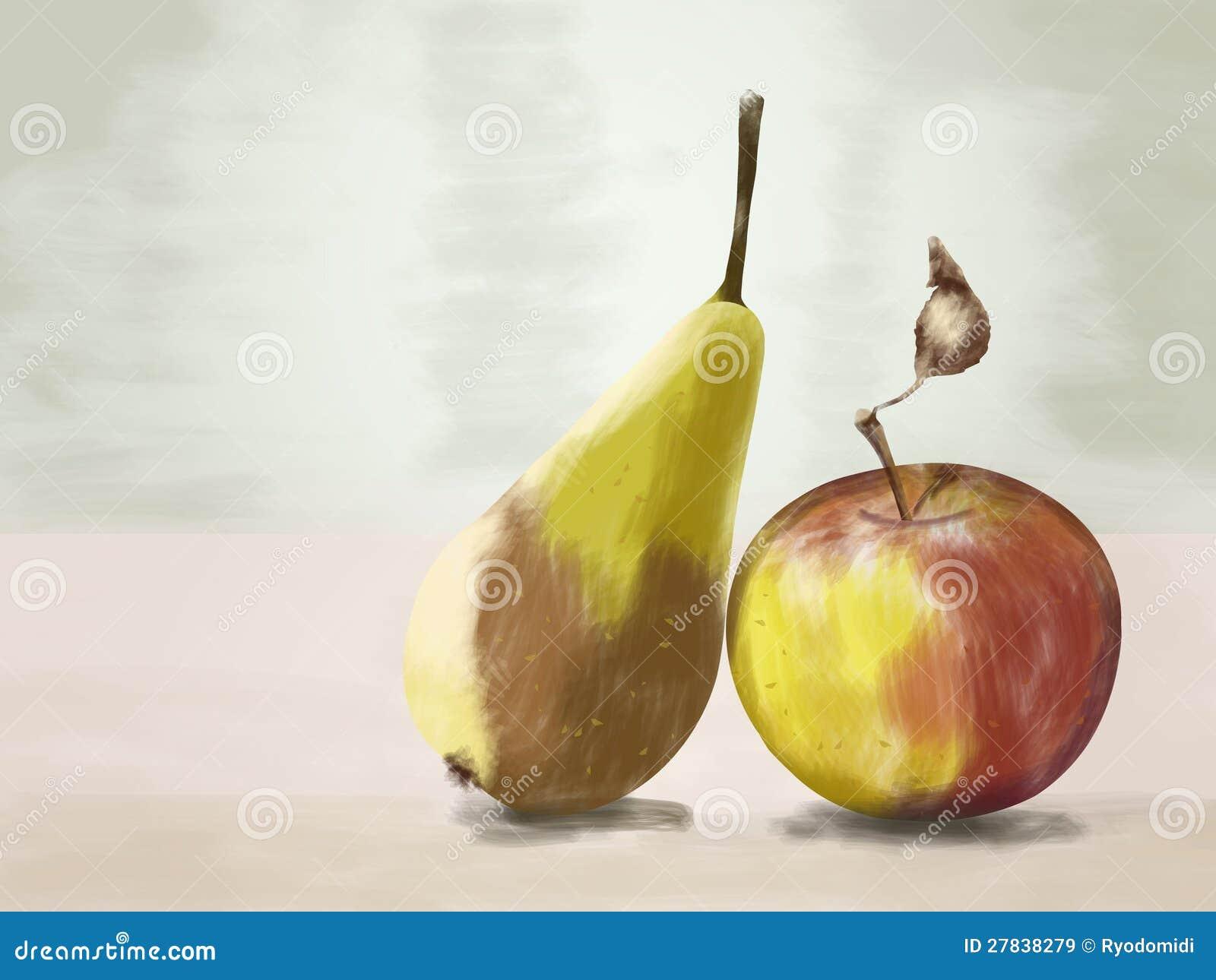 эскиз яблока: