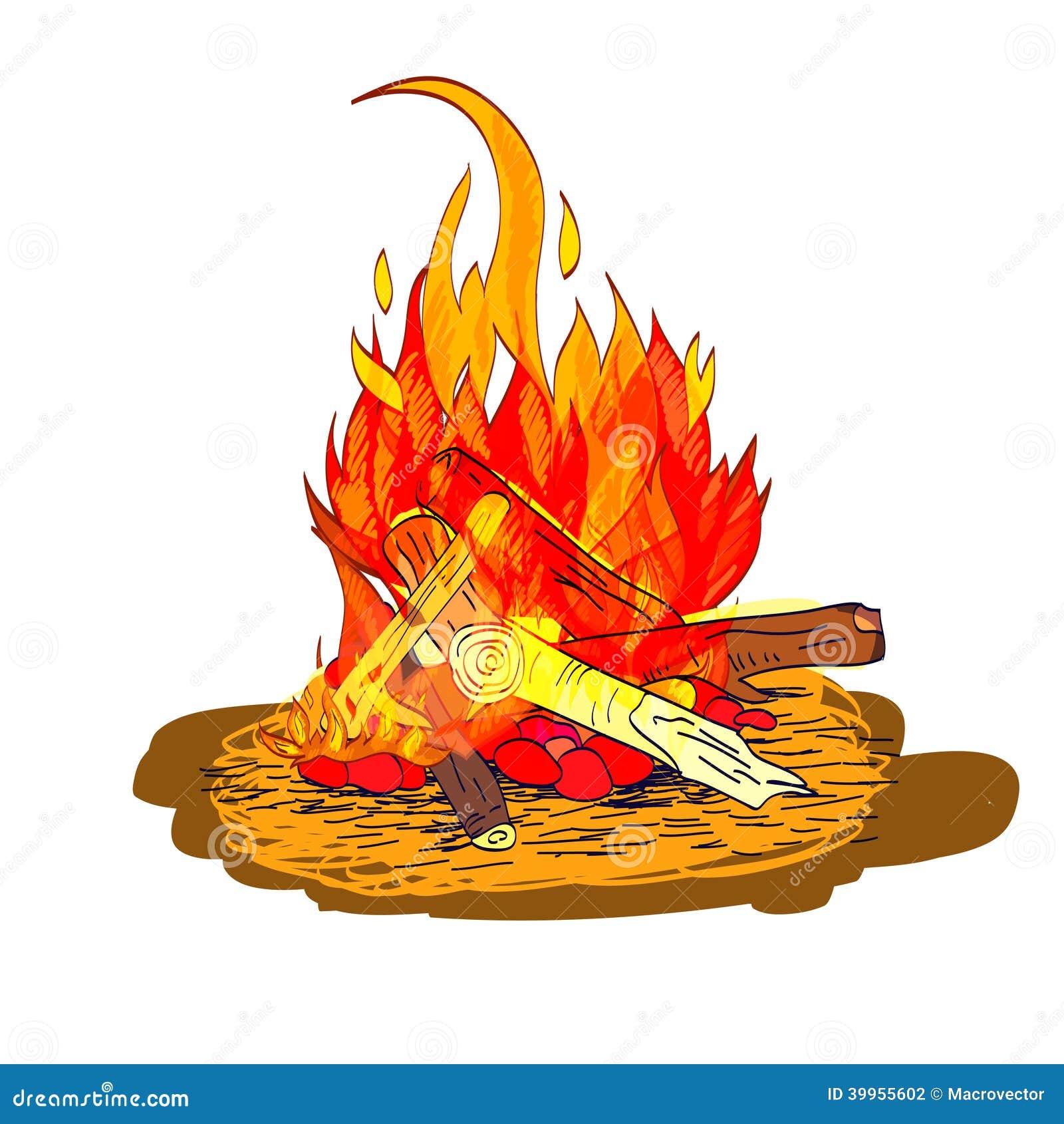 эскиз огня: