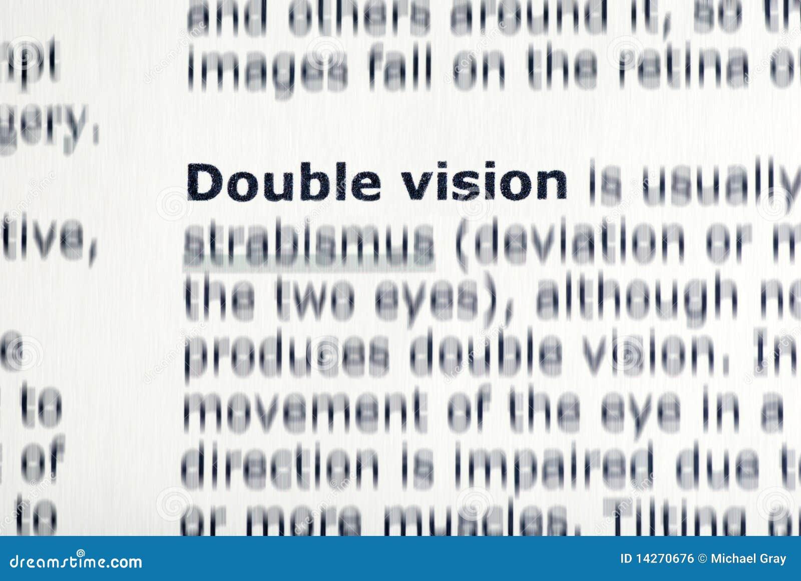 Зрение Двойное фото