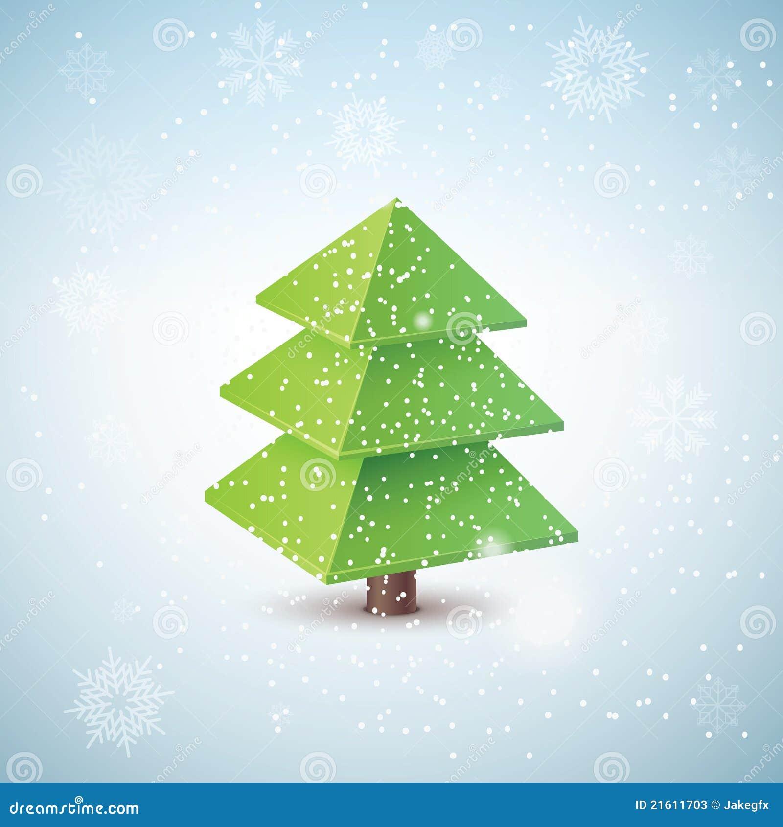 rbol De Navidad Del Vector 3d Ilustracin del Vector Ilustracin