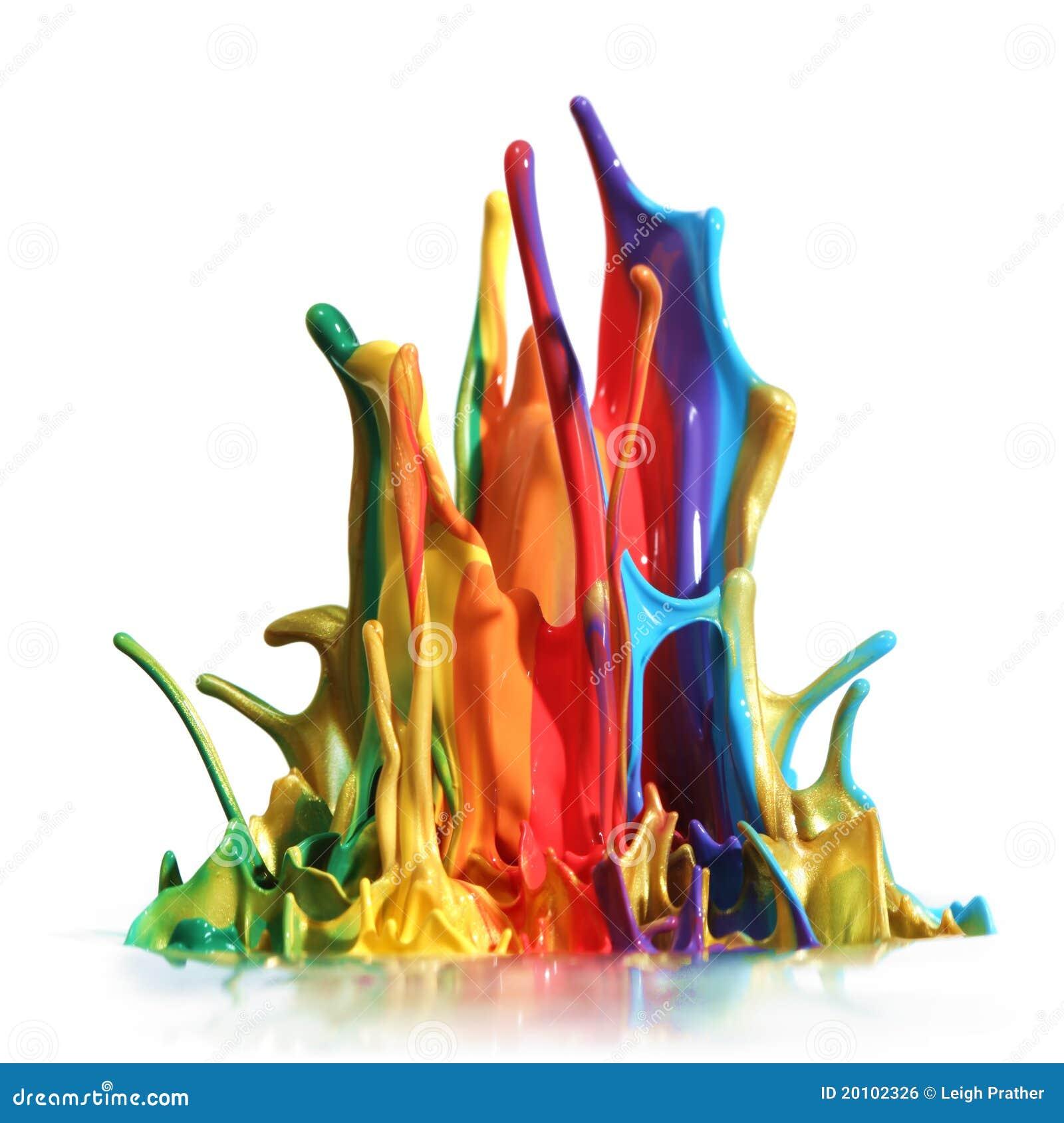 Exceptionnel Éclaboussement Coloré De Peinture Image libre de droits - Image  LQ74