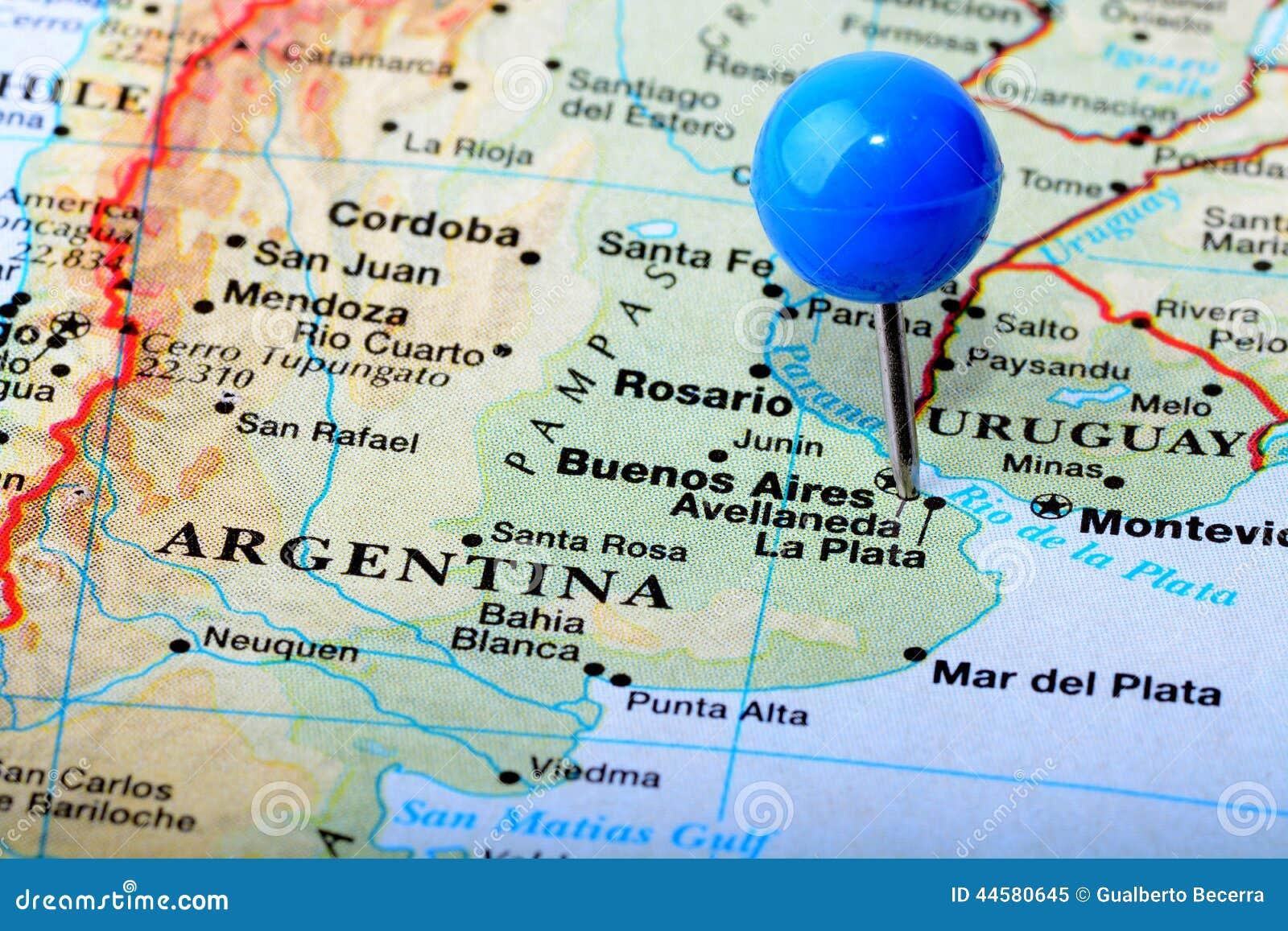 阿根廷的地图的宏观射击