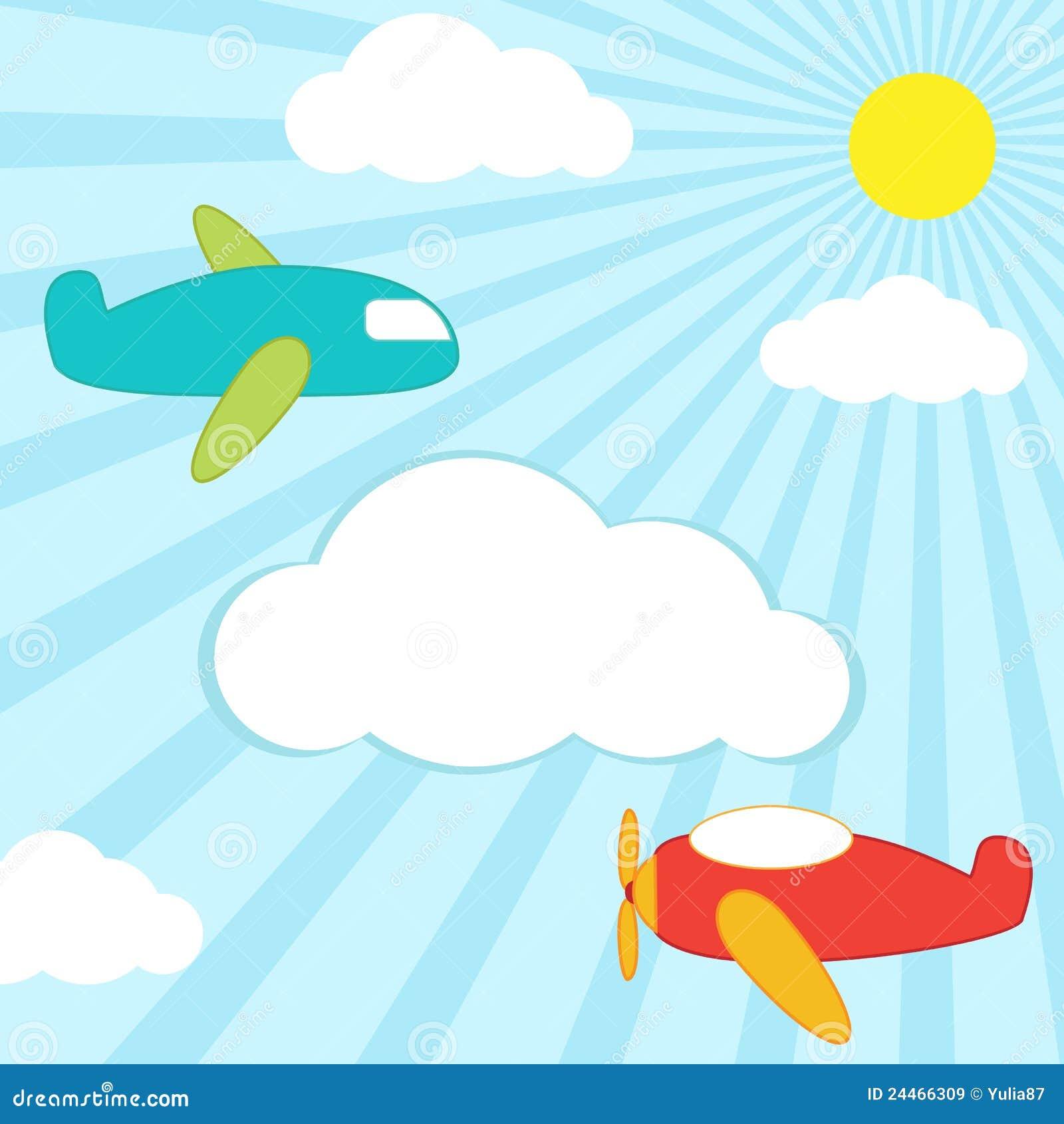 背景飞机 免版税库存图片