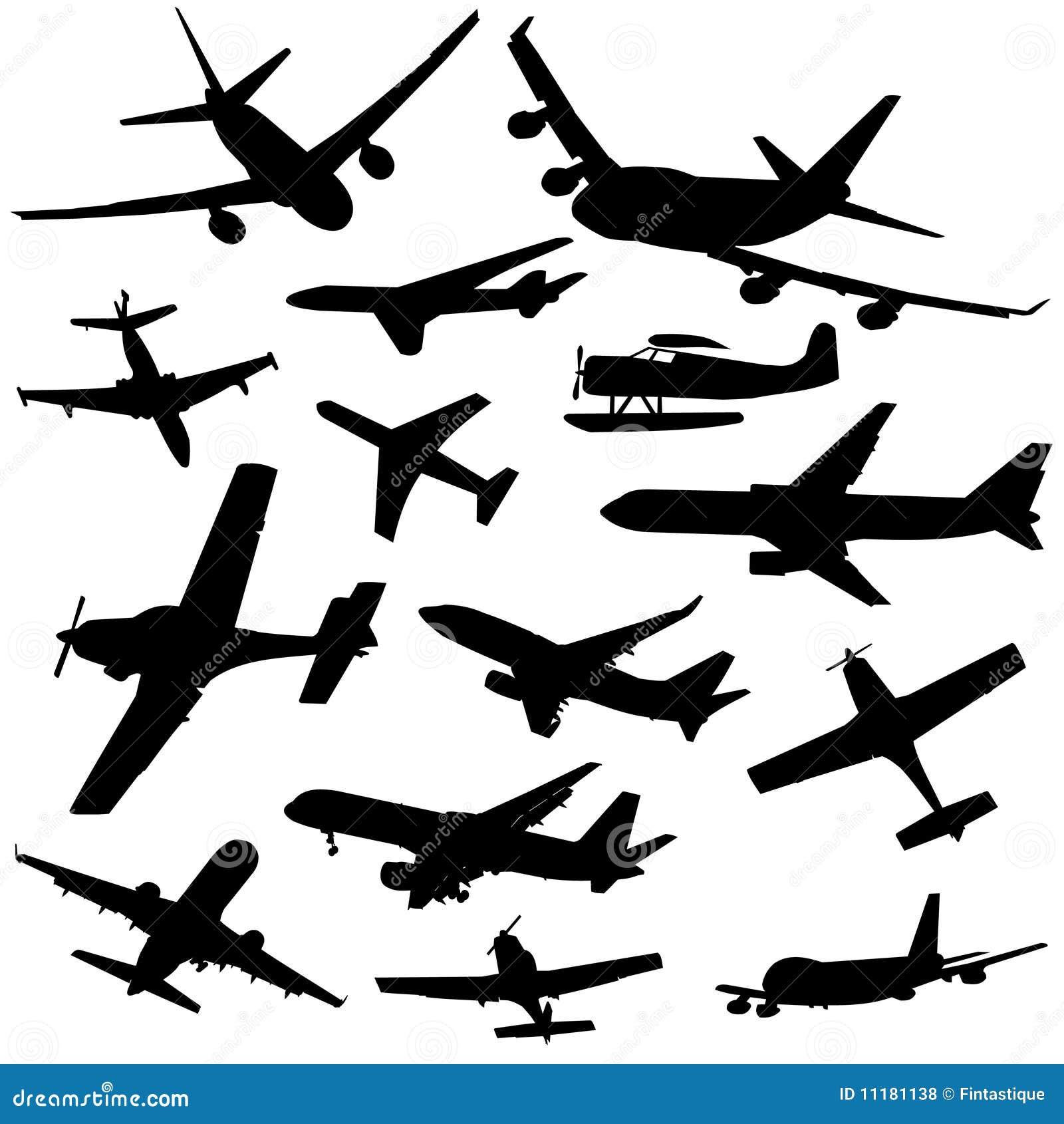 被分类的例证飞机剪影