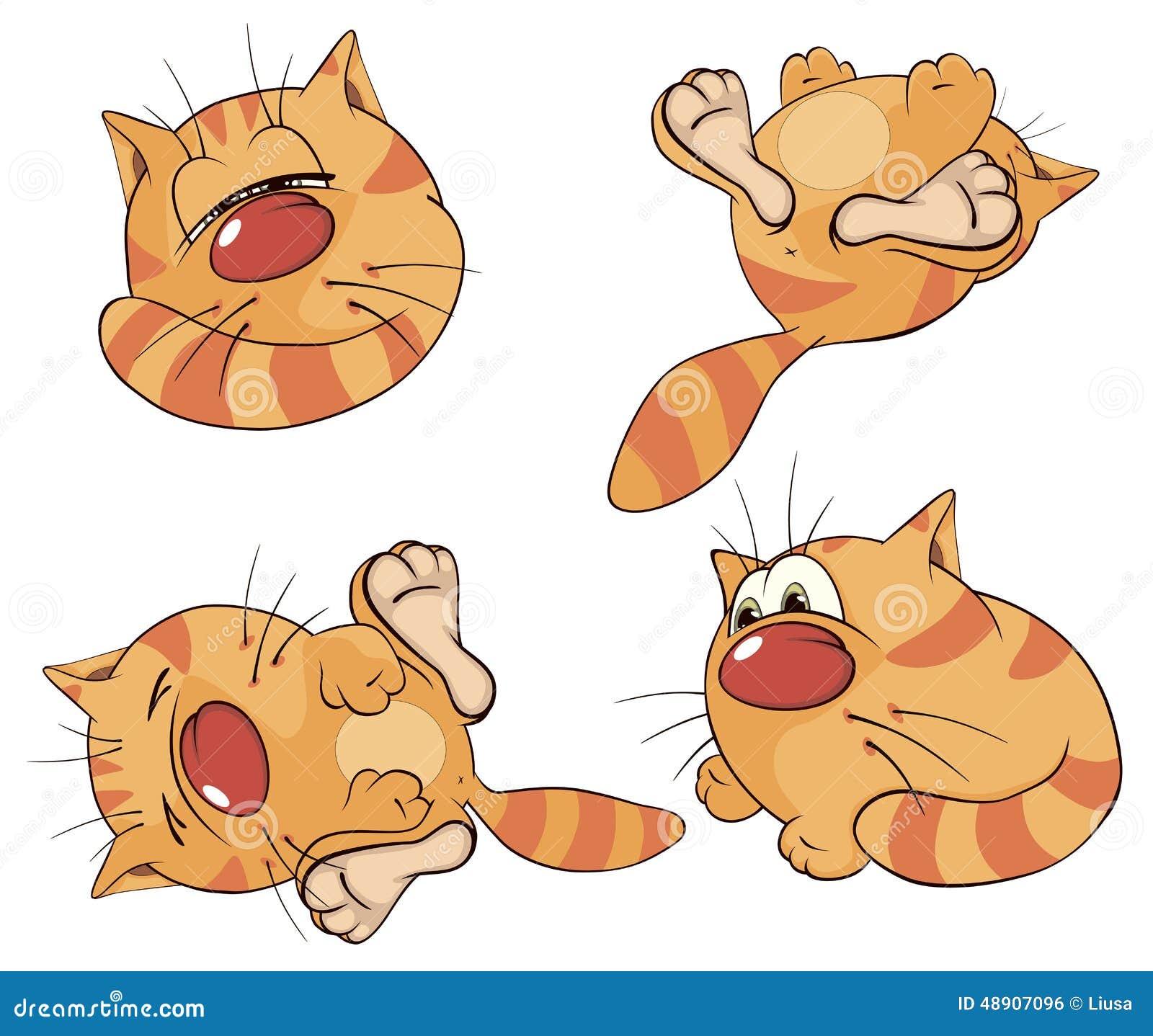 被设置的动画片猫图片