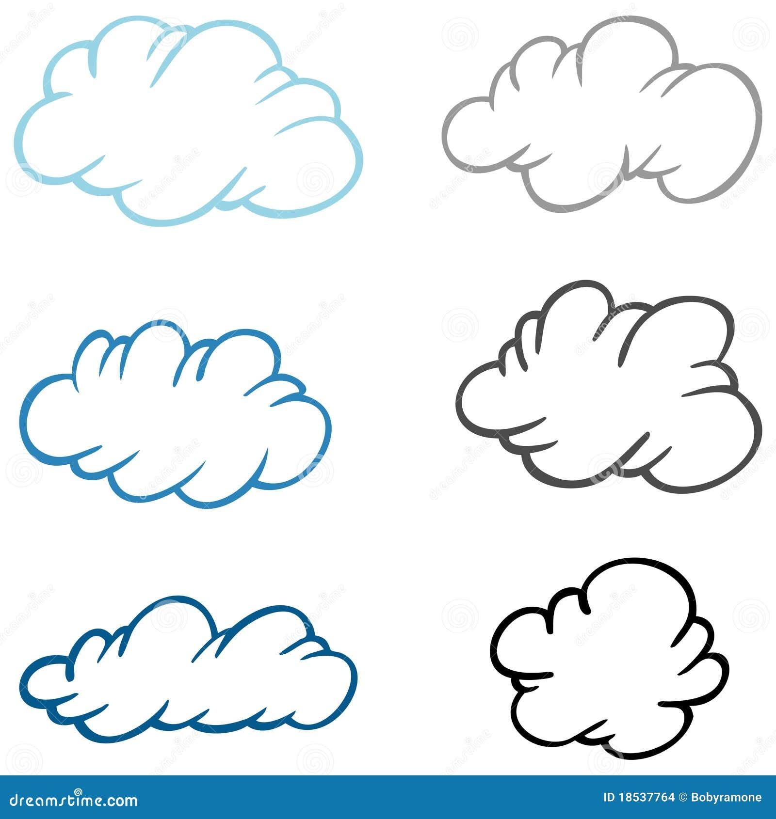 手绘卡通云朵图片