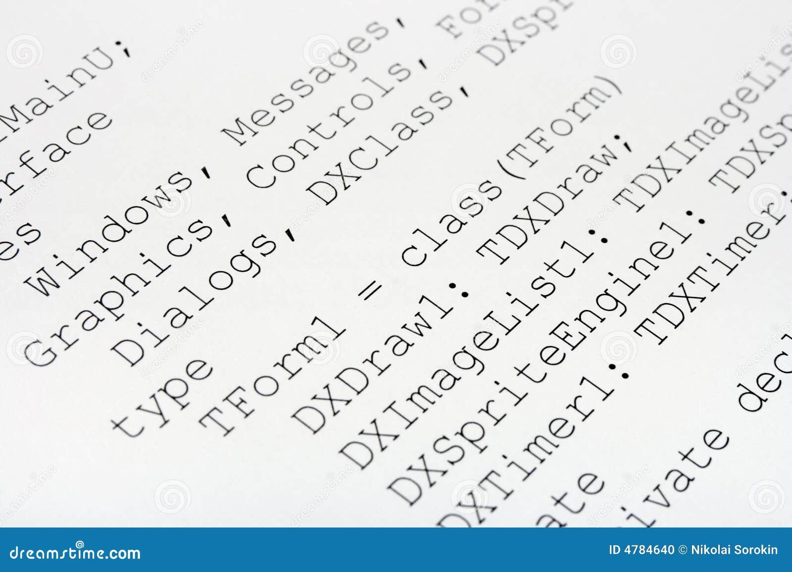 編碼被打印的計算機 庫存照片圖片