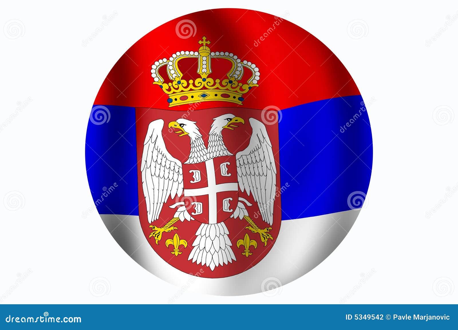 标志共和国塞尔维亚 图库摄影图片