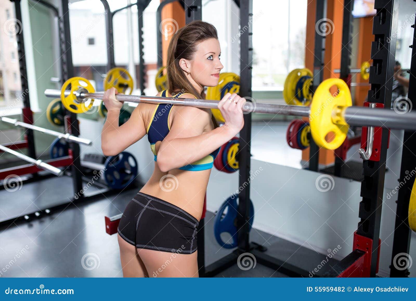 参与健身房运动女孩 库存照片