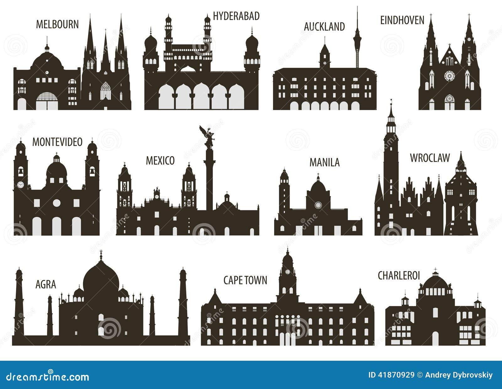 城市剪影 向量例证 - 图片