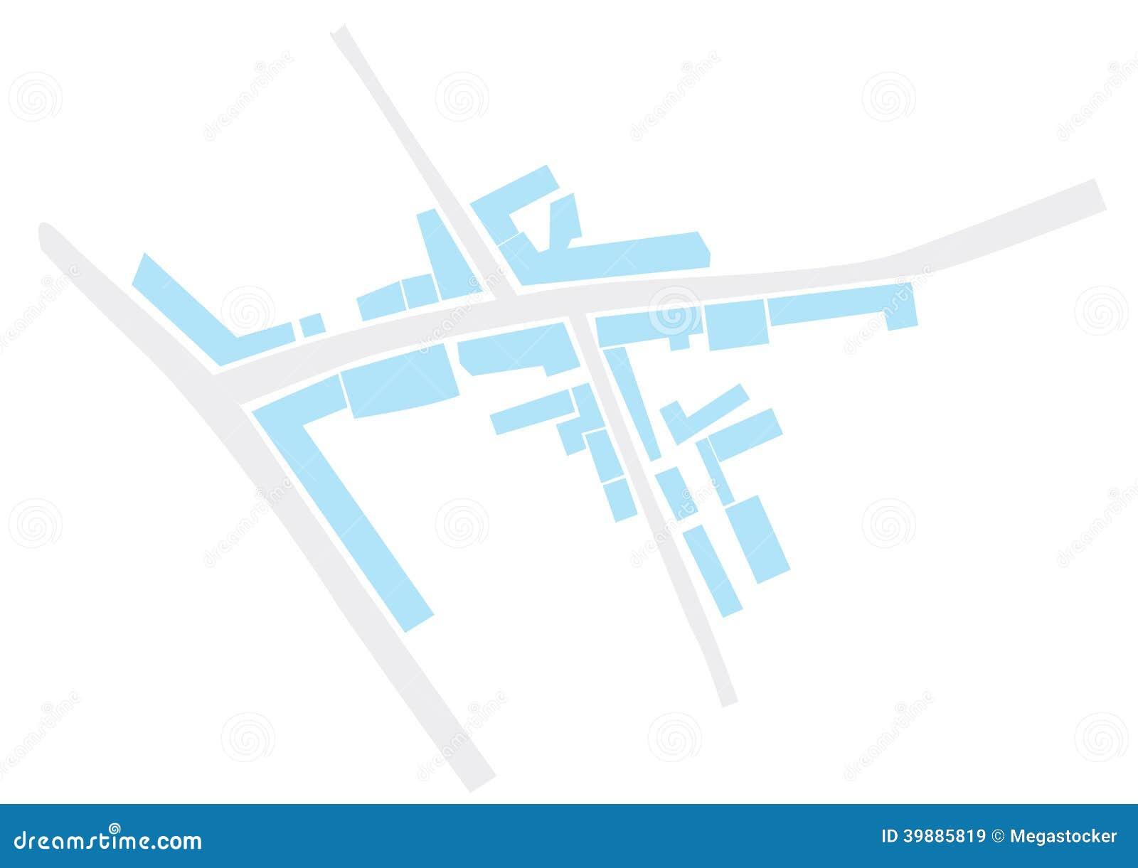 抽象城市地图 库存例证