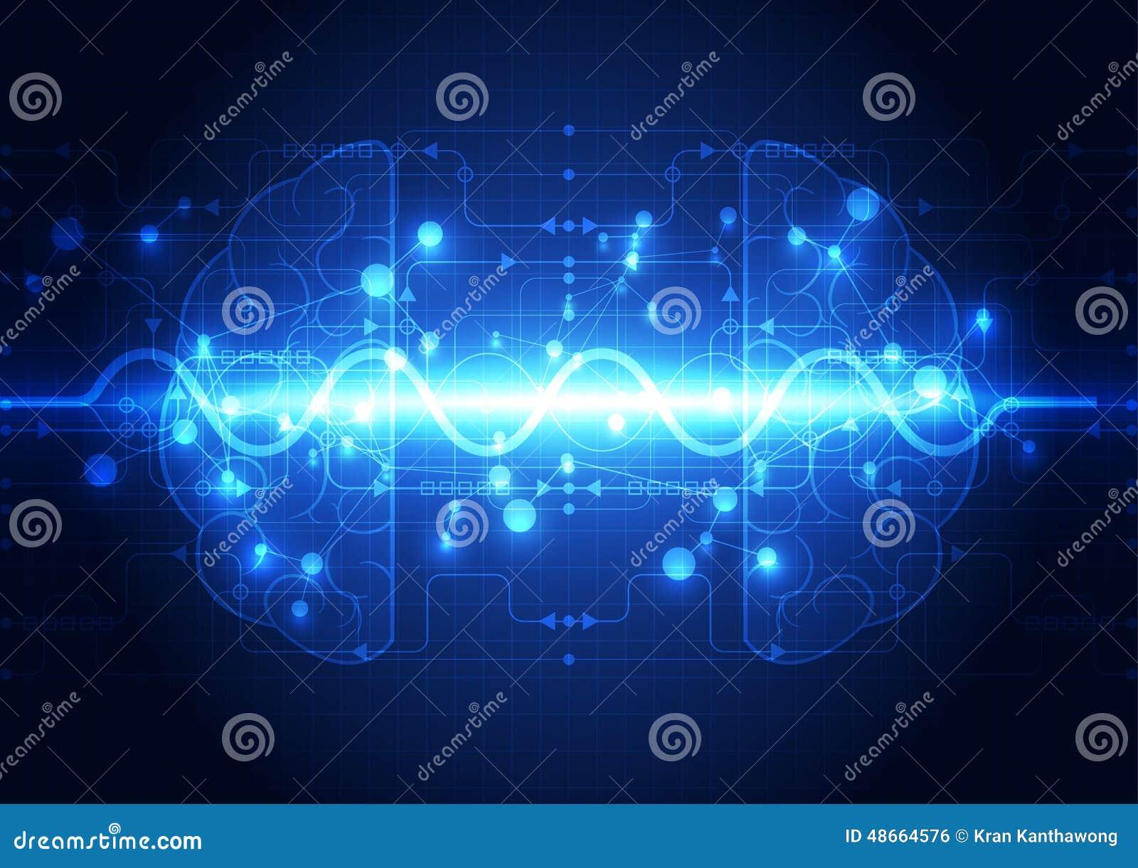 抽象电路数字式脑子,技术概念
