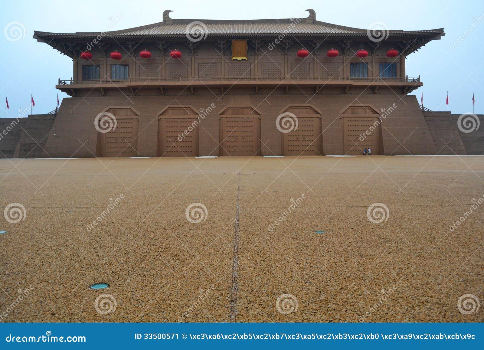 大明宫殿位于西安longshou高原城市的北部,是世界多数壮观的宫殿.图片