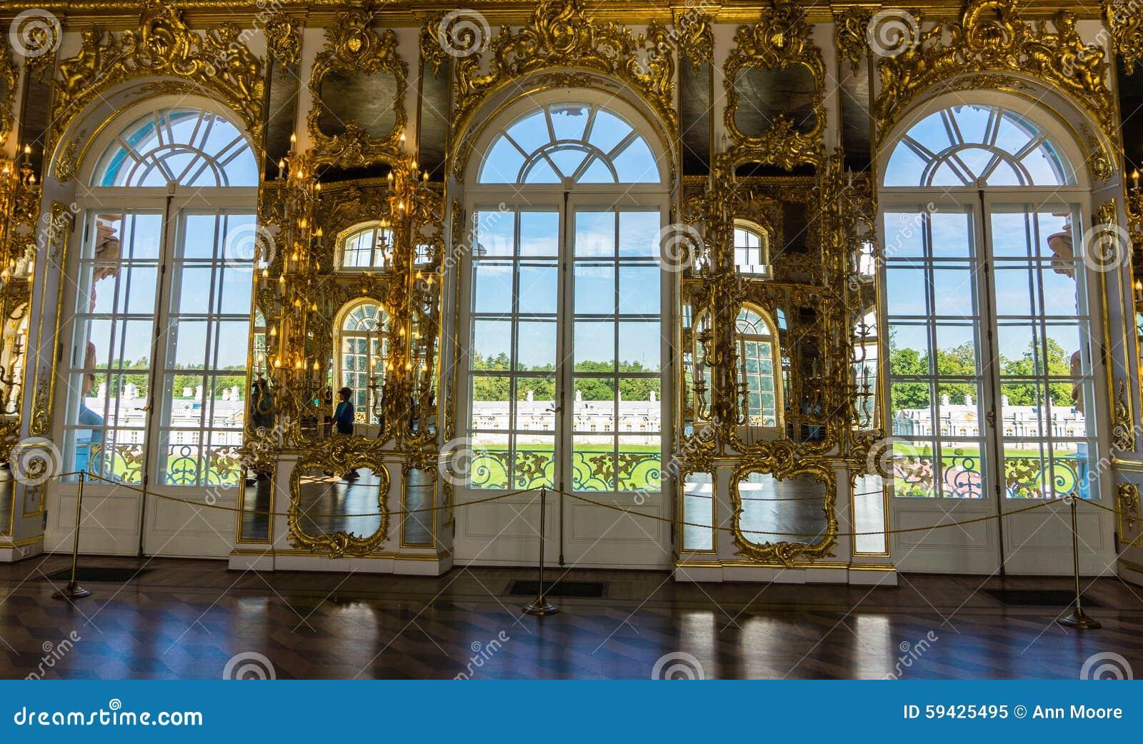 大厅在凯瑟琳宫殿图片