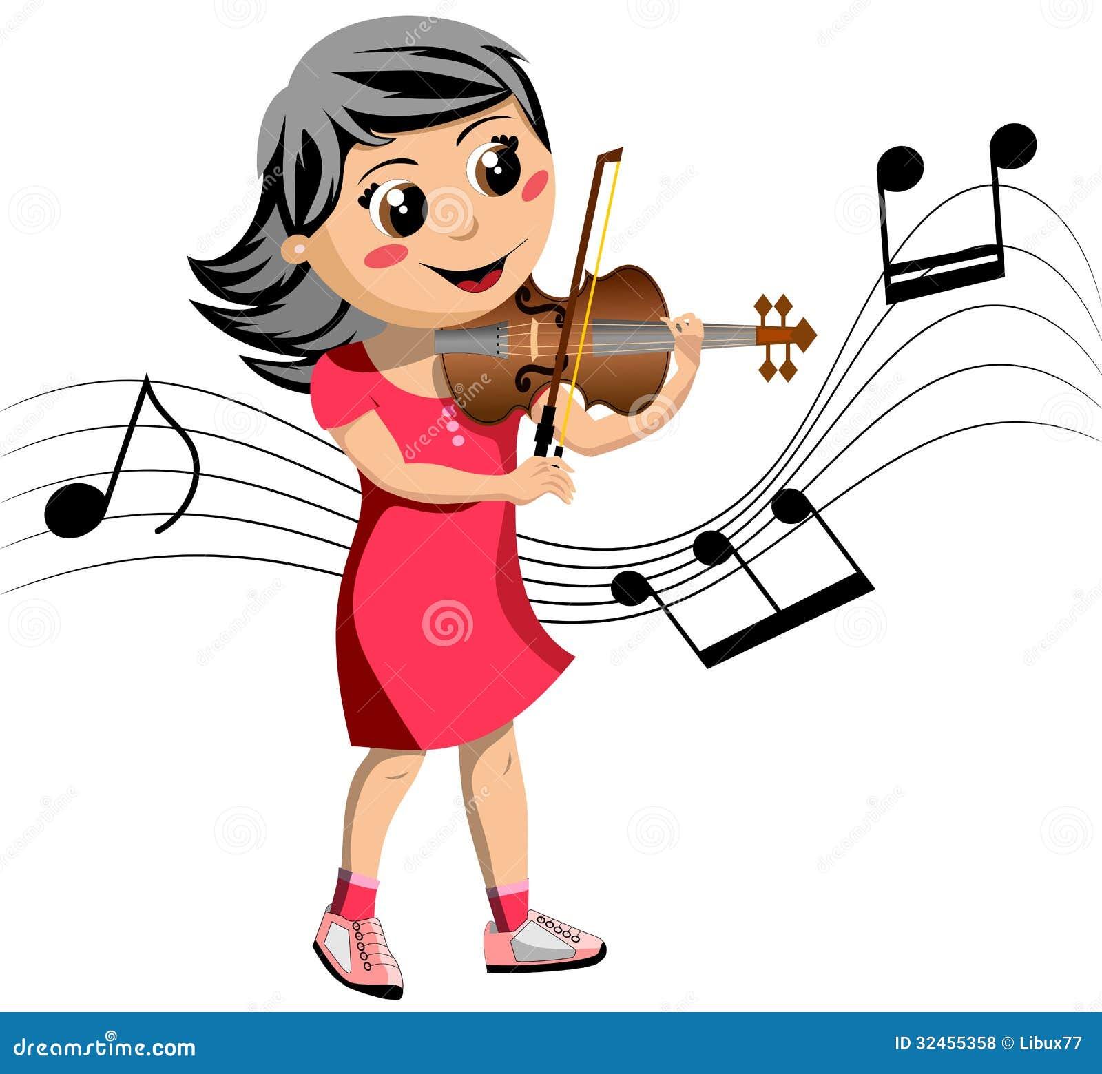 卡通小提琴拉弦图片展示图片