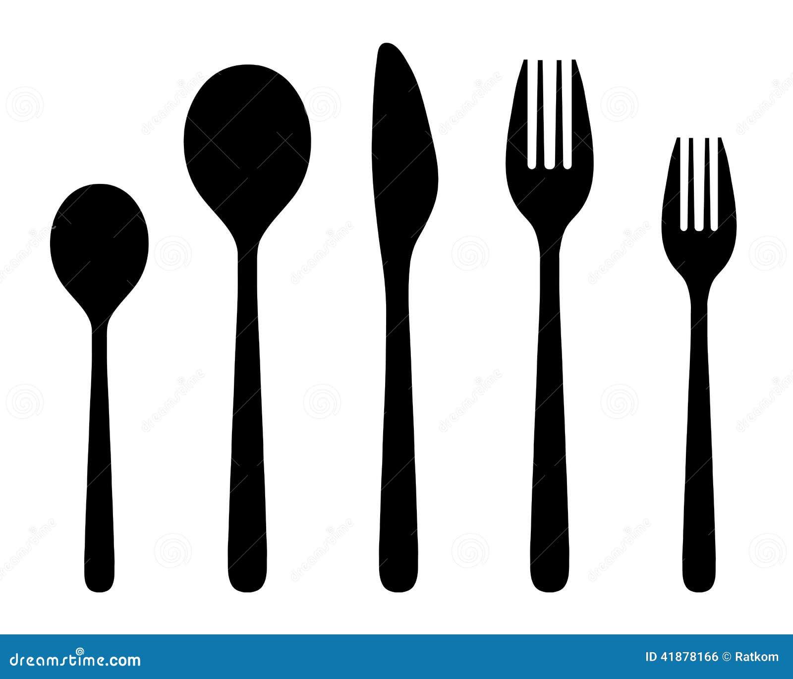 刀叉餐具 库存例证 - 图片