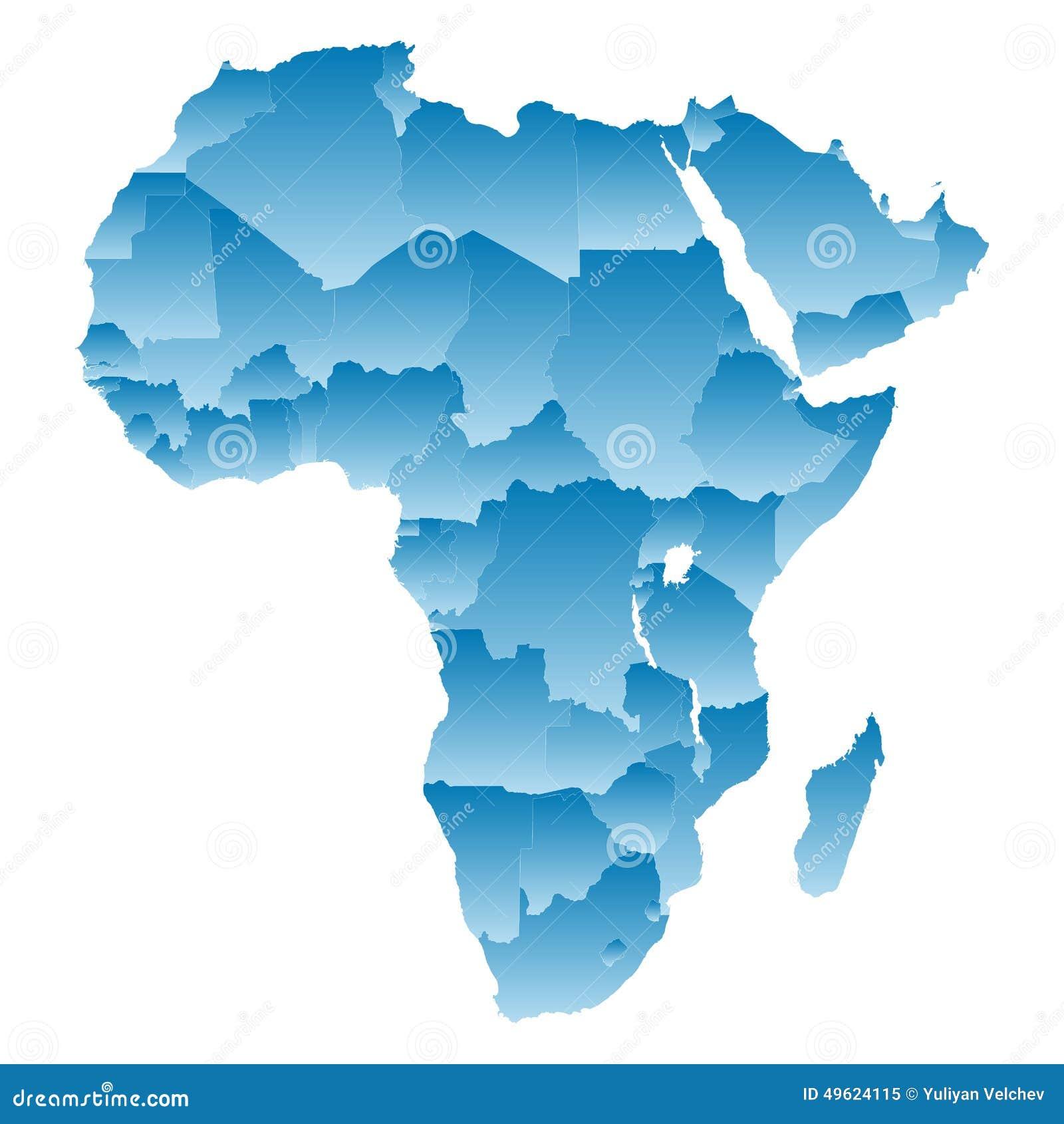 在白色背景的地图非洲