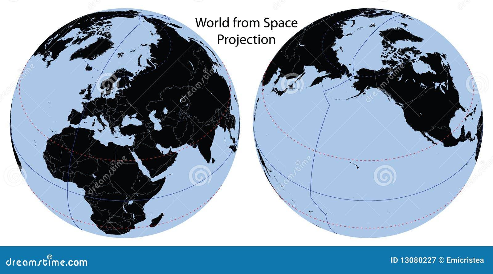 地图投影空间世界