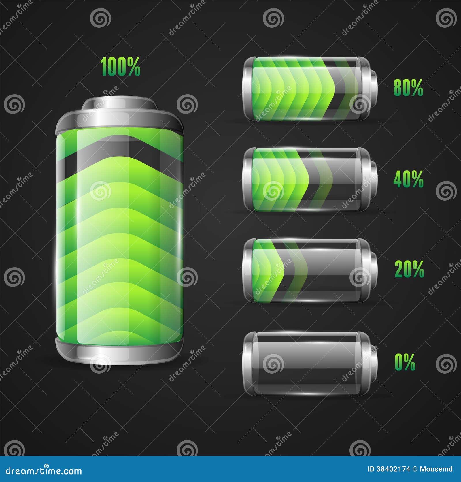电池电平指示器的传染媒介例证