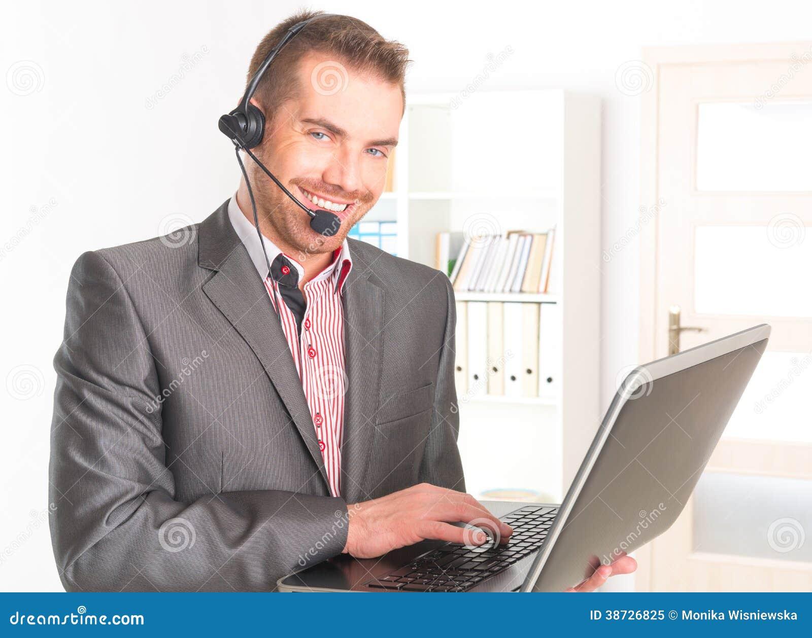 电话接线员在电话中心