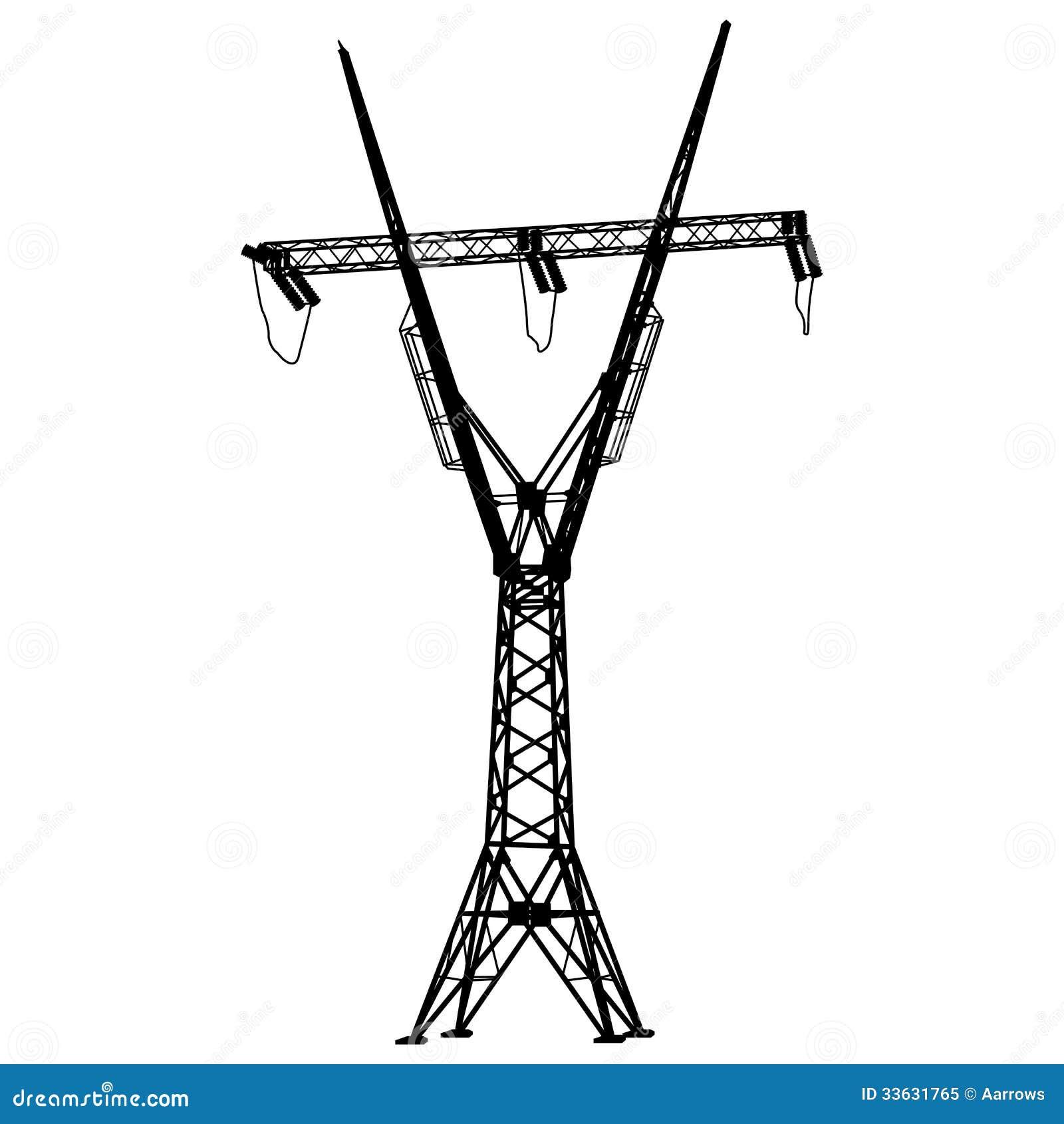 电压输电线 免版税库存照片
