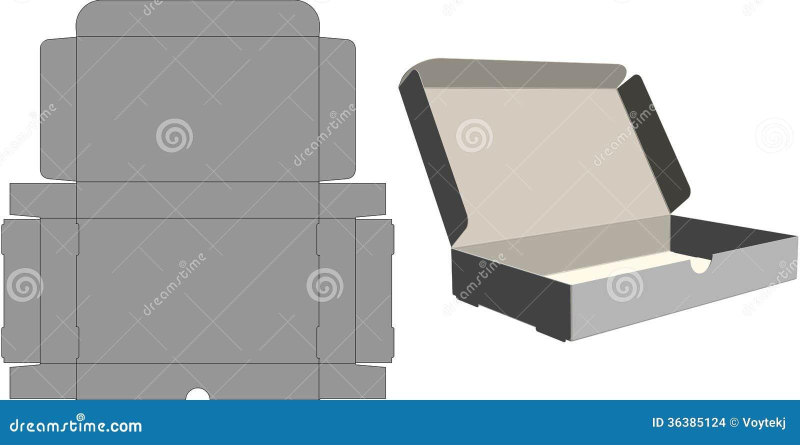 顶面折叠纸盒 库存图片