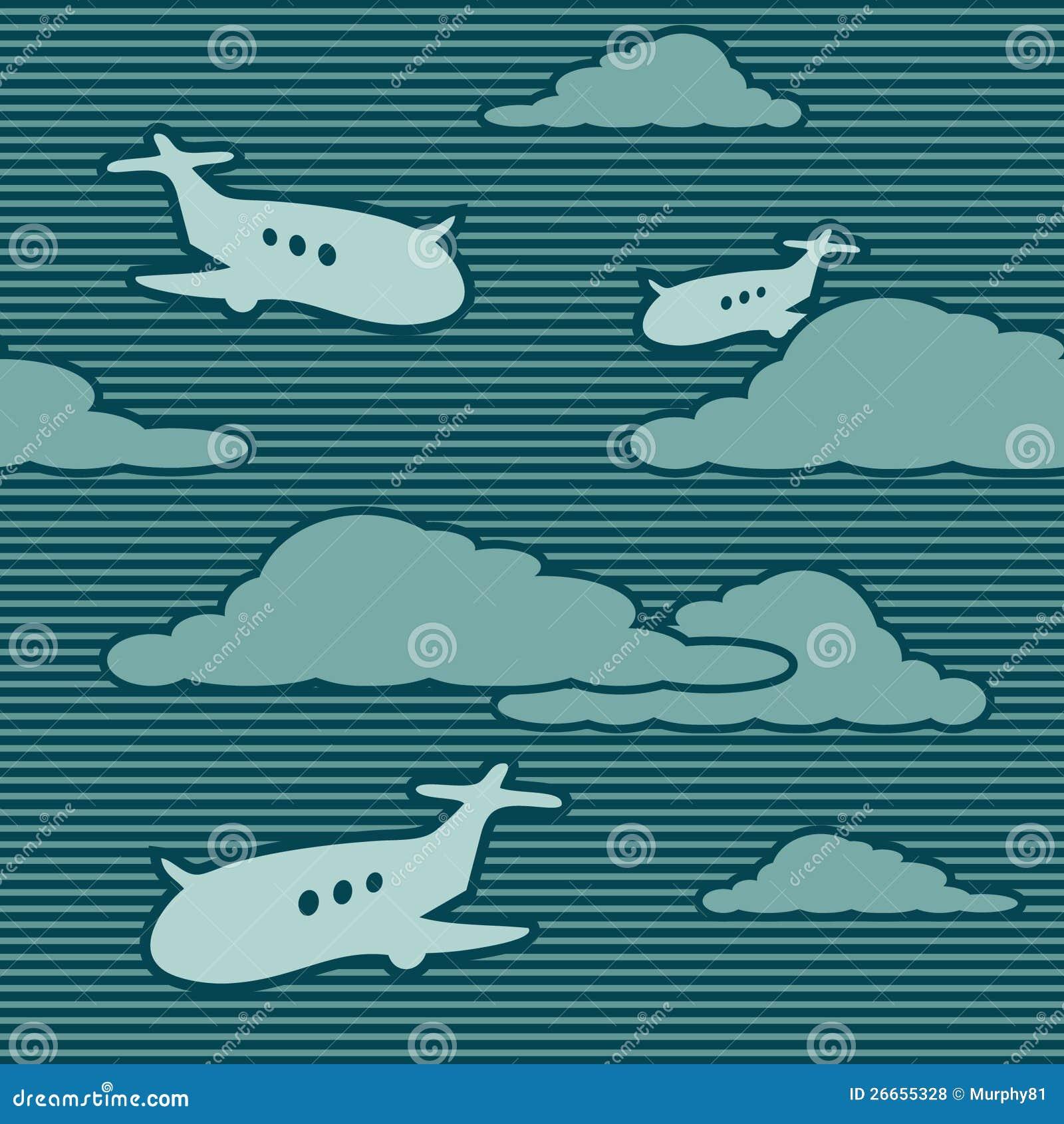动画片飞机 免版税库存照片