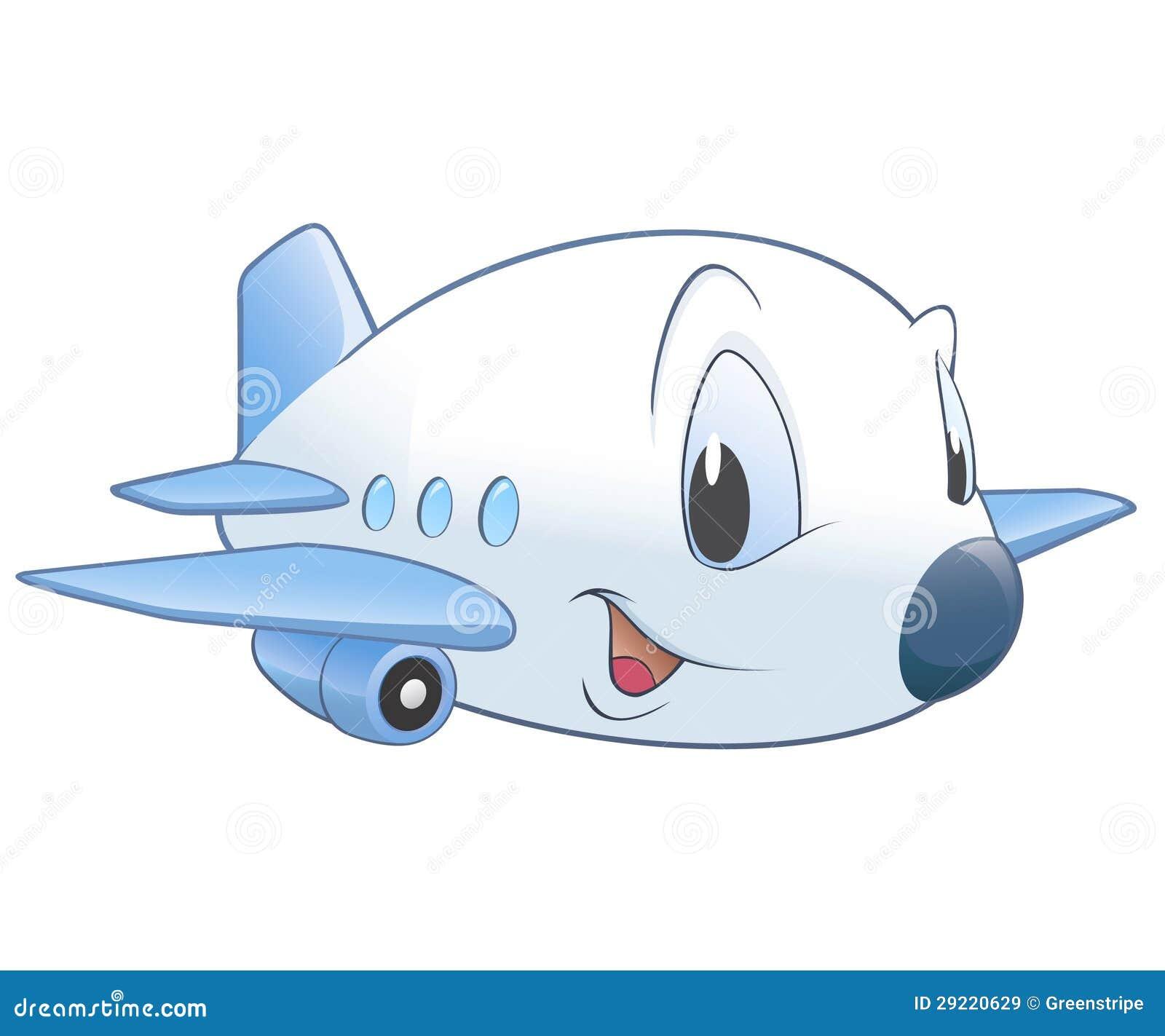 动画片飞机 免版税库存图片