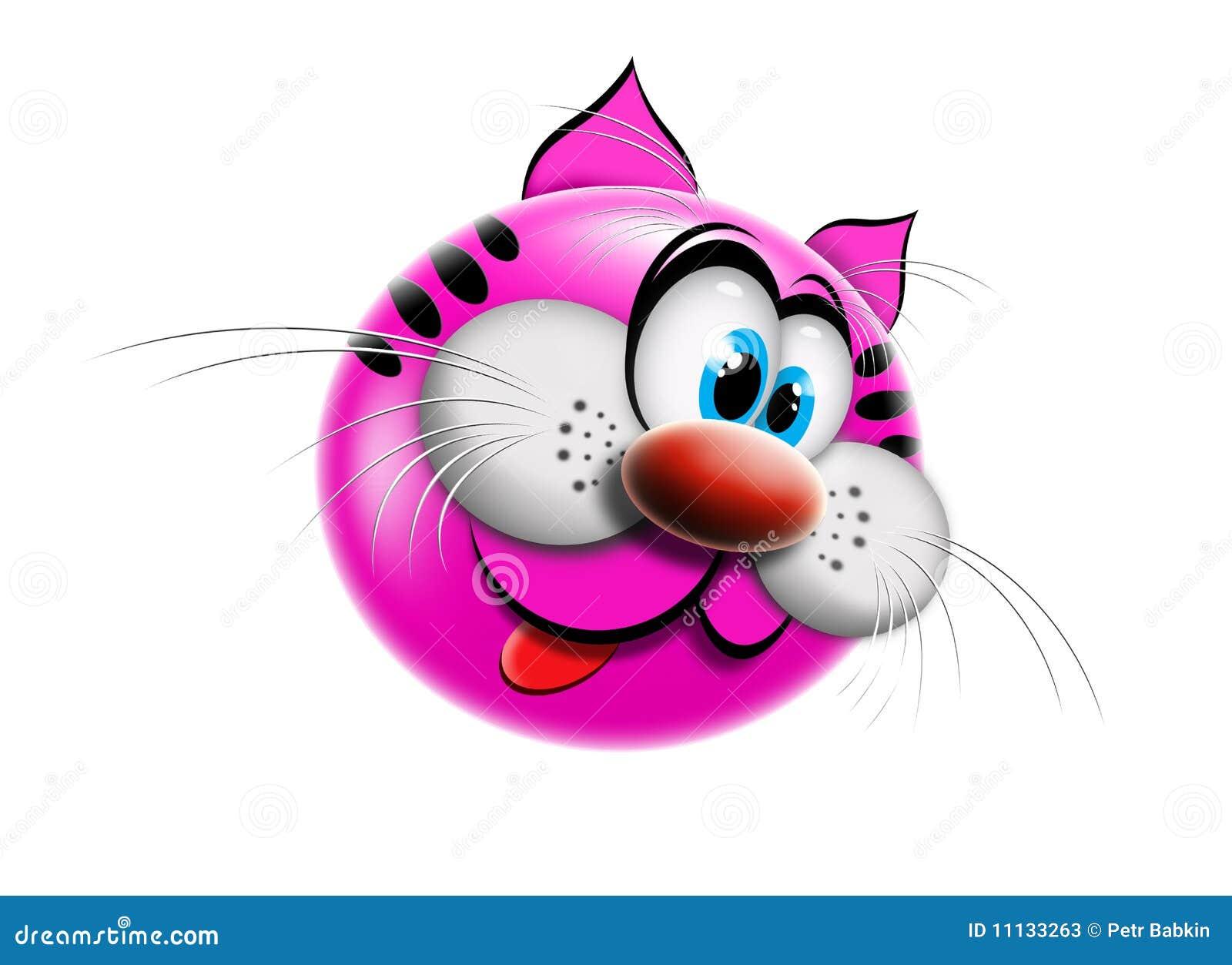 动画片猫粉红色 库存照片图片