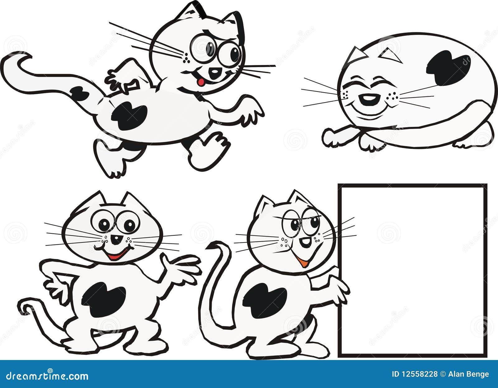 动画片猫 免版税库存照片图片