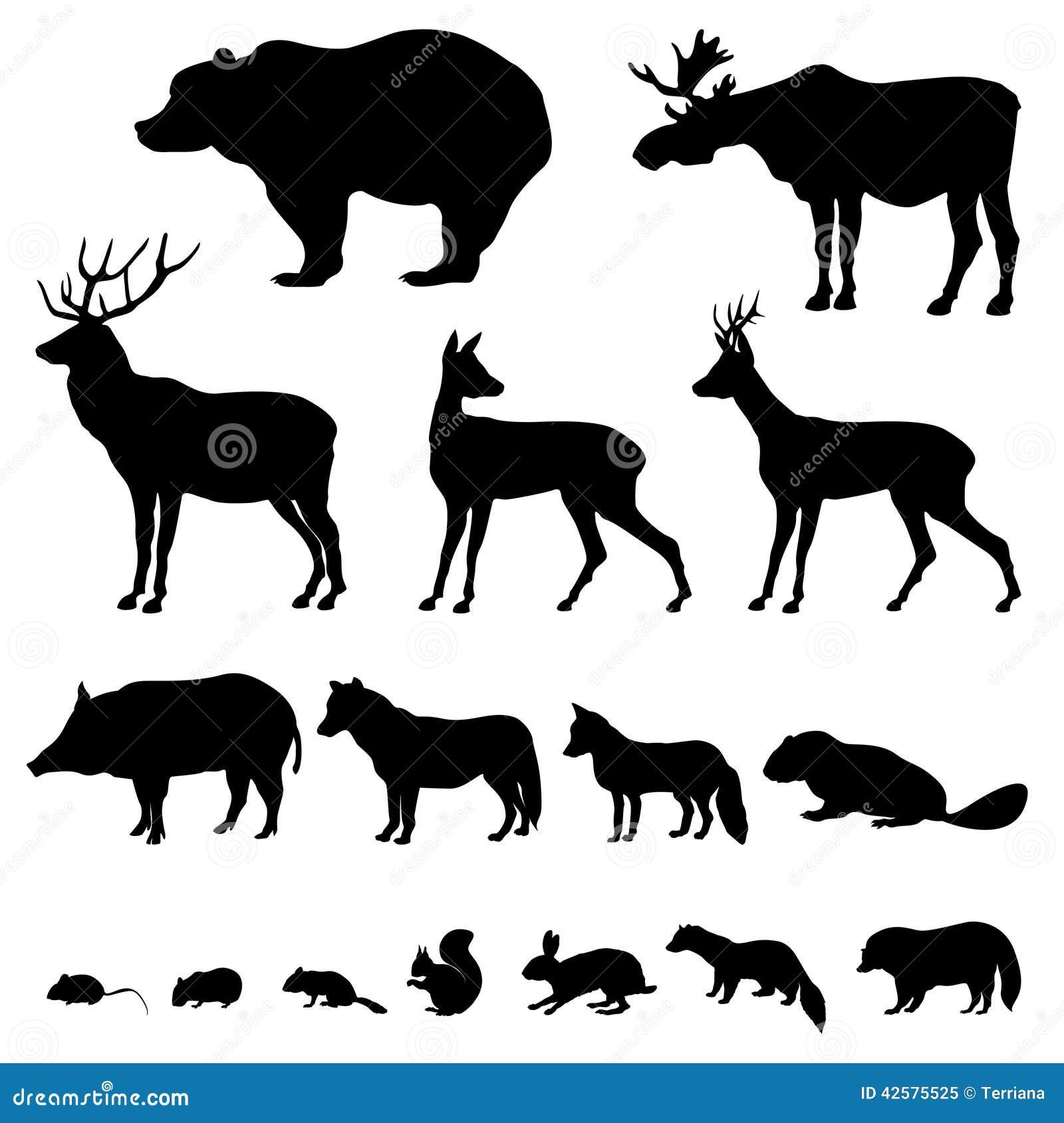 媒介象套的动物剪影