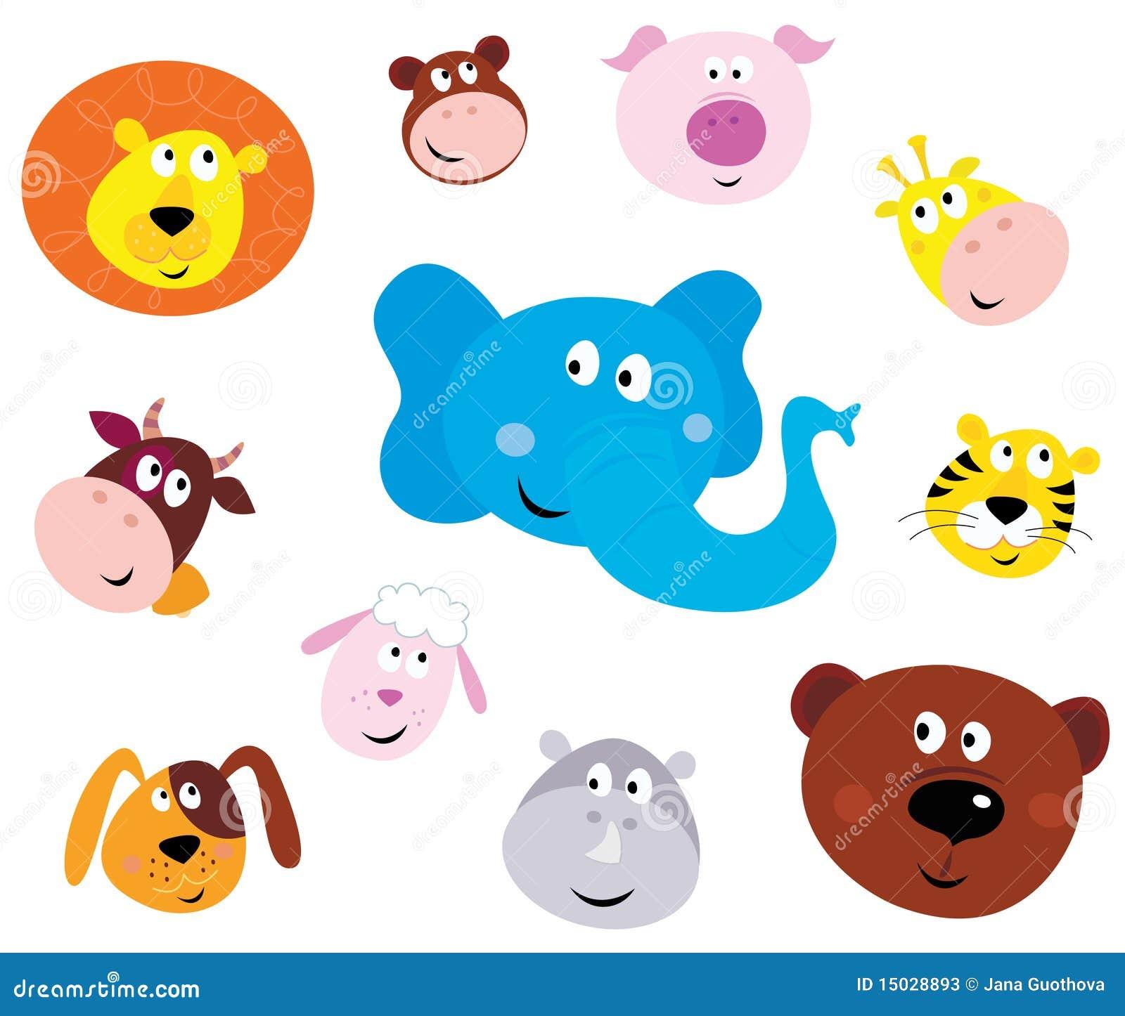 动物逗人喜爱的意思号顶头图标微笑